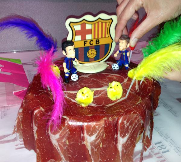 pastel jamon iberico pata negra barcelona