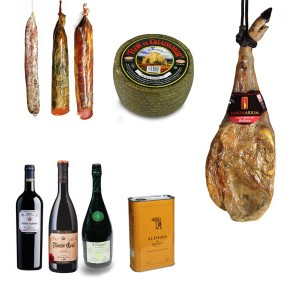 cesta aniversario Jamonarium jamon queso embutido vino