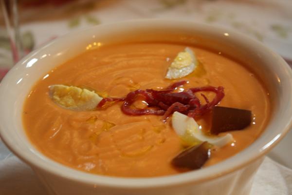 salmorejo sopa tomate jamon