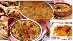 platos tipicos gastronomia española paella española