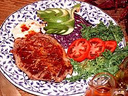 solomillo lomo cerdo salsa roja