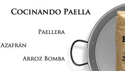 Cocinar la mejor paella con paellera, azafrán y arroz con bomba